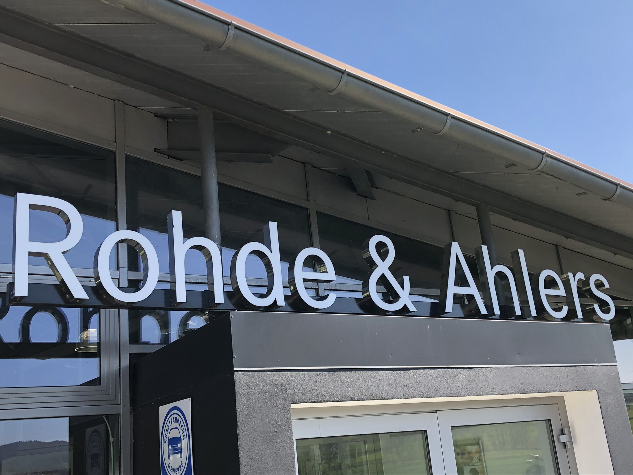 Schriftzug Rohde und Ahlers
